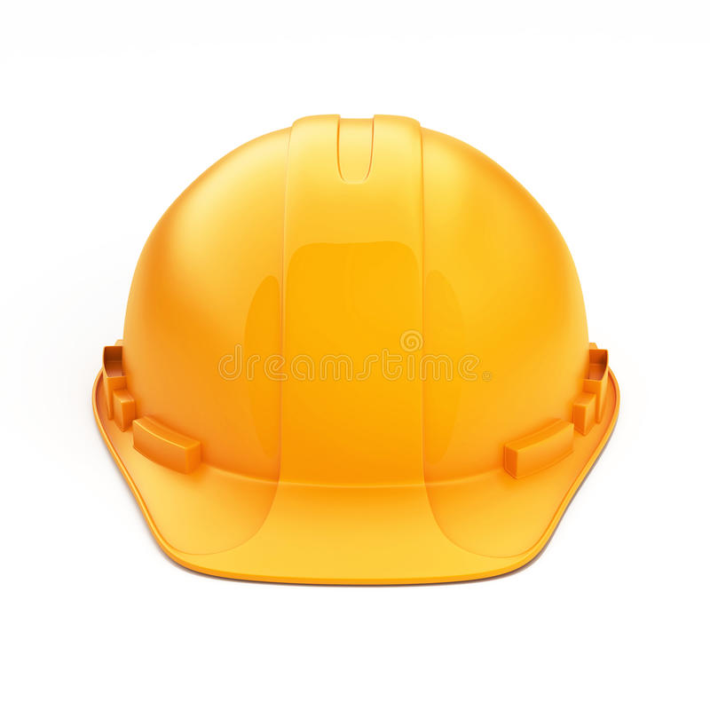 Orange Sturzhelm für Erbauer stockfotos