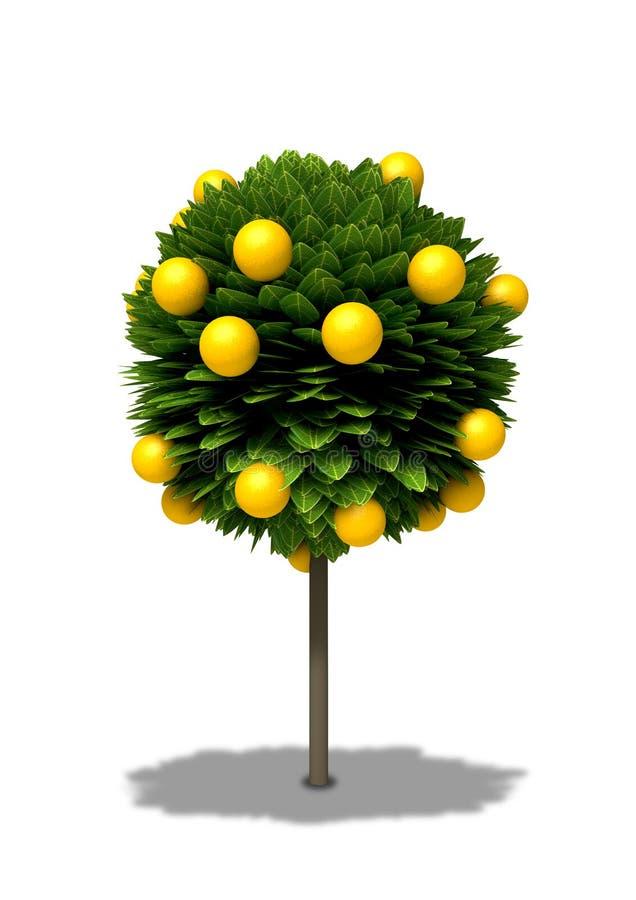 orange stylized tree stock illustrationer