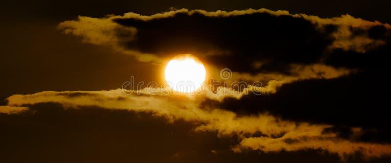 Orange sun at sunset royalty free stock images