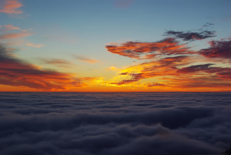 Download Orange sunrise stock photo. Image of alpine, cloudness - 12175708