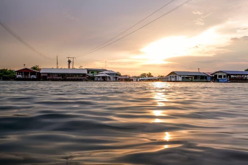 Orange sunrise, river landscape.Sunset,Beautiful nature.Natural Background.Lake, sun.Nature thailand. Orange sunrise dawn, river landscape of beautiful thailand royalty free stock photography