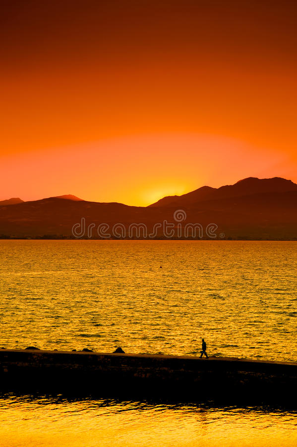 Free Orange Sunset Royalty Free Stock Photography - 14049907