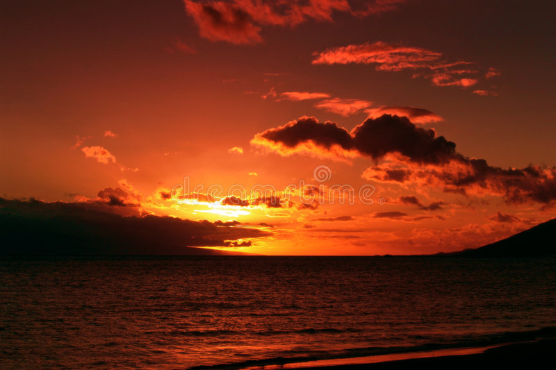 Download A Orange Sunset Royalty Free Stock Photo - Image: 193755