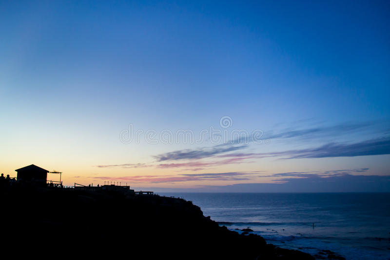 Download Orange sunset at the beach stock photo. Image of dawn - 92418682
