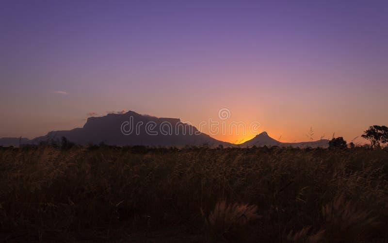 The Orange Sunset royalty free stock images