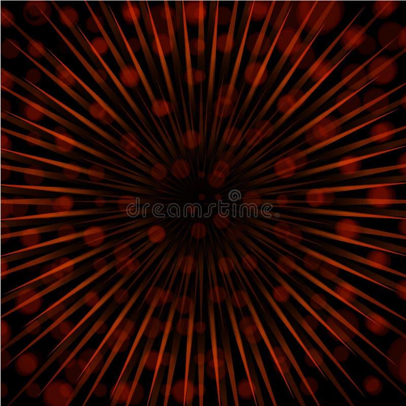 Orange Sunspot Glare Explosion Background