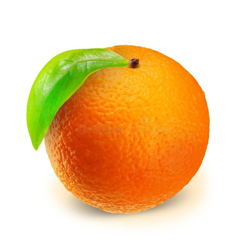Orange sur le blanc avec le chemin de coupure photo libre de droits