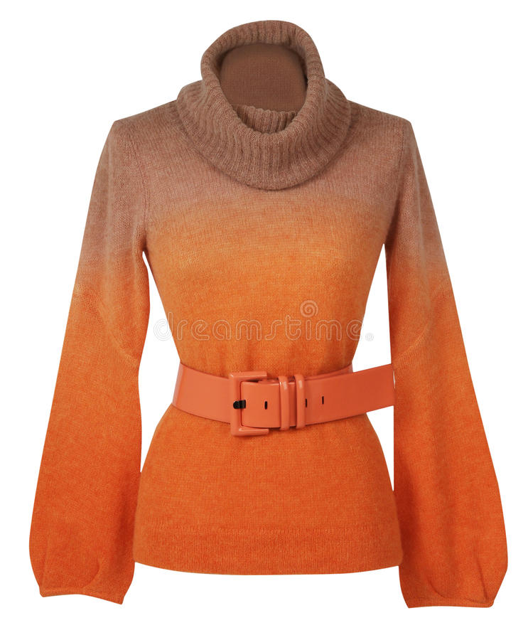 Free Orange Sweater Royalty Free Stock Photo - 33725065
