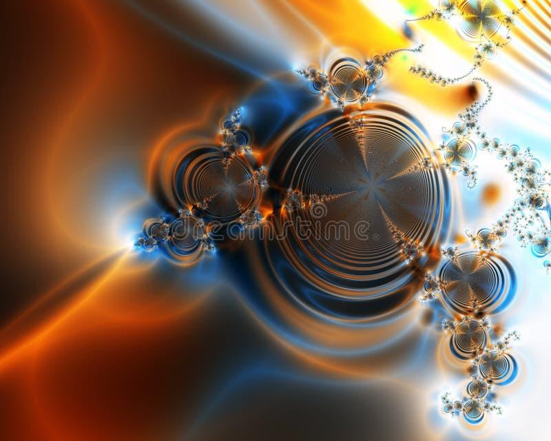 Orange Swirls Abstract Background. Pattern