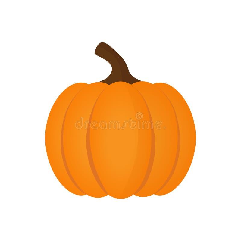 Orange symbol för halloween pumpagrönsak royaltyfri illustrationer