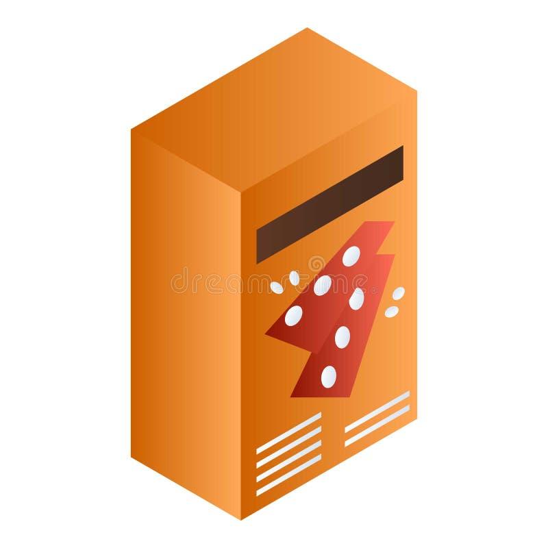 Orange symbol för smällareask, isometrisk stil royaltyfri illustrationer