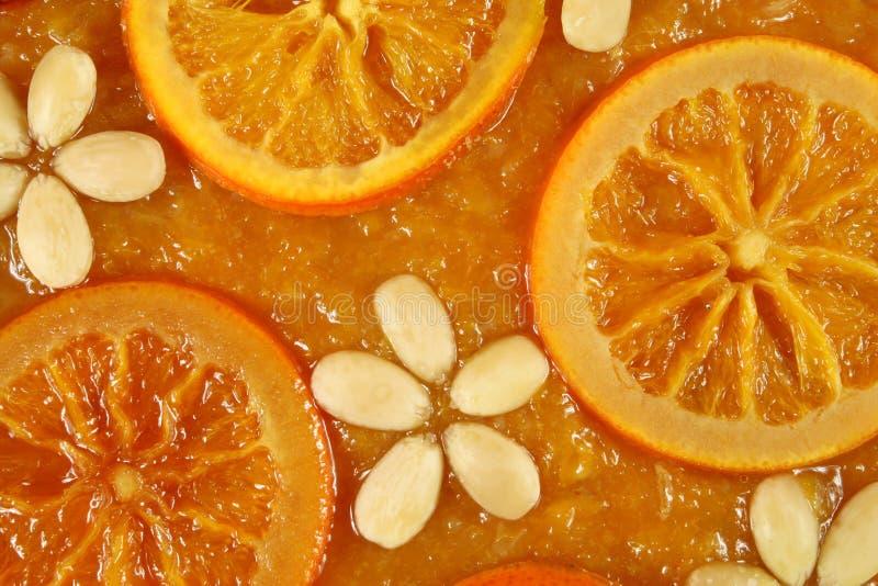 Orange Törtchen lizenzfreies stockfoto