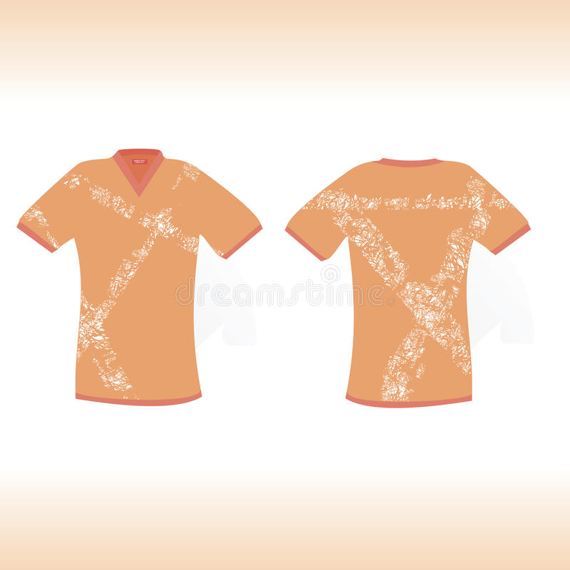 Download Orange T-shirt With Original Scratch Design Stock Illustration - Illustration: 26722590