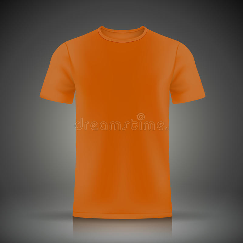 Orange T-Shirt Schablone stock abbildung
