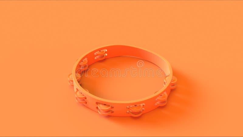 Orange Tambourine High angle stock images
