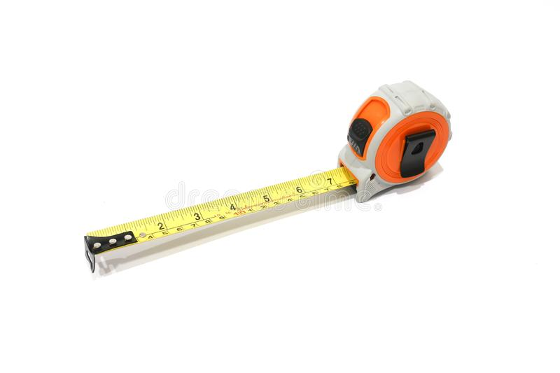 Tape Measure on White Background. royalty free stock image
