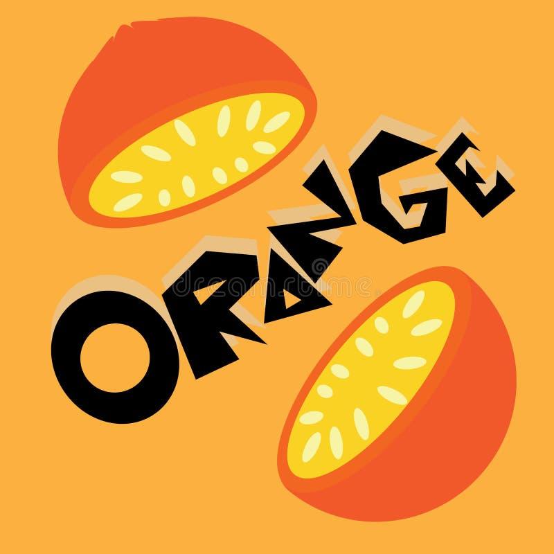 Orange Tapetenillustration stockbilder