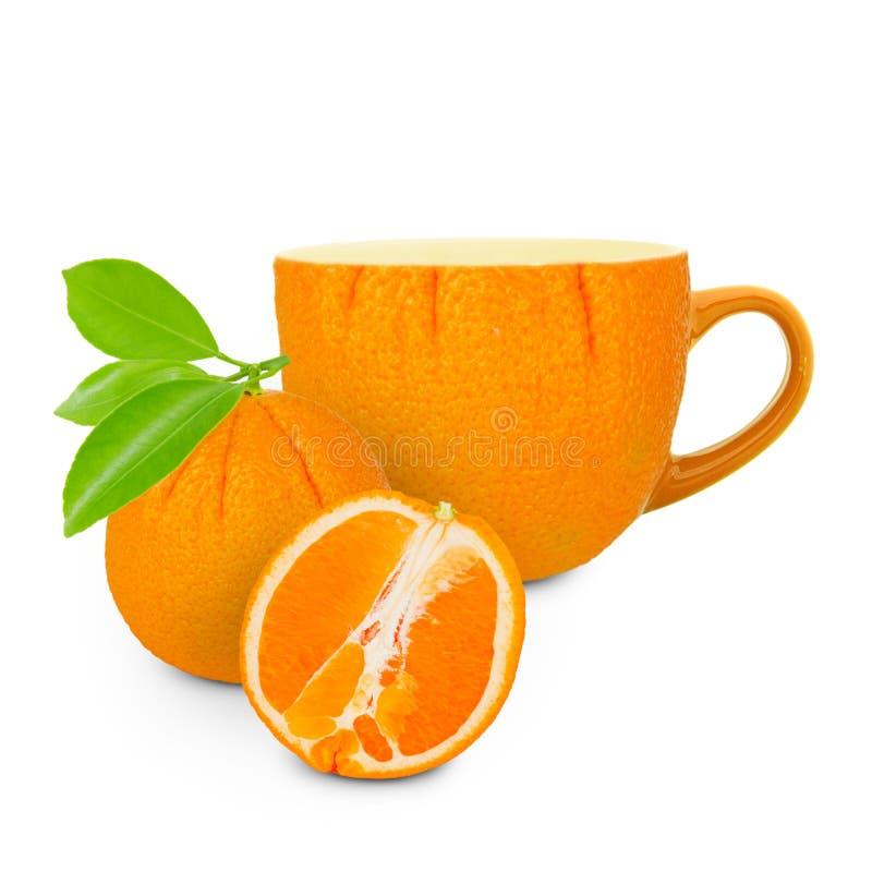 orange tea arkivbild