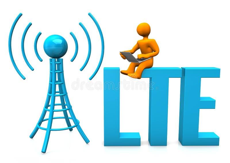 LTE-dvärg stock illustrationer