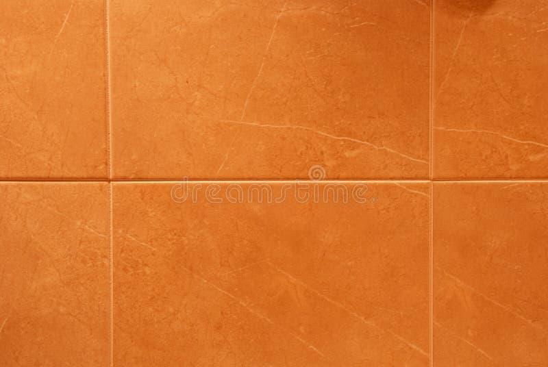 orange tegelplattor royaltyfria bilder