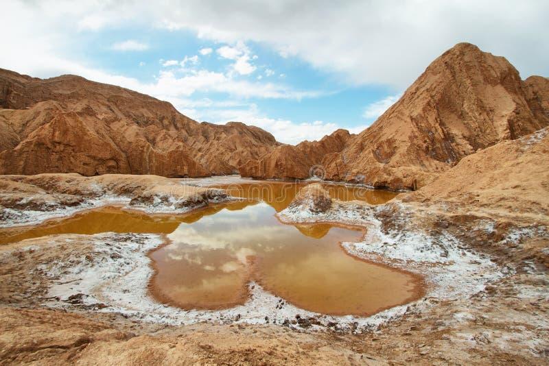 Orange Teich im Tal von Mars stockbild