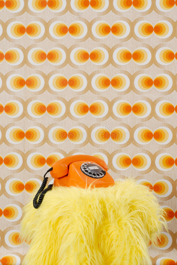 Orange Telefon lizenzfreies stockfoto
