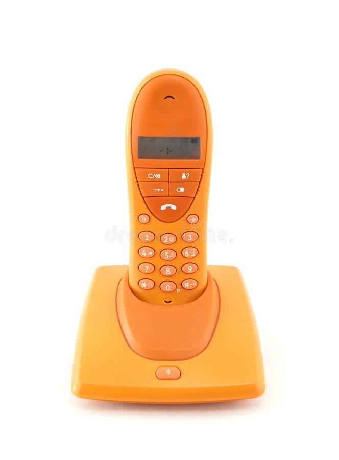 Orange Telefon stockbilder