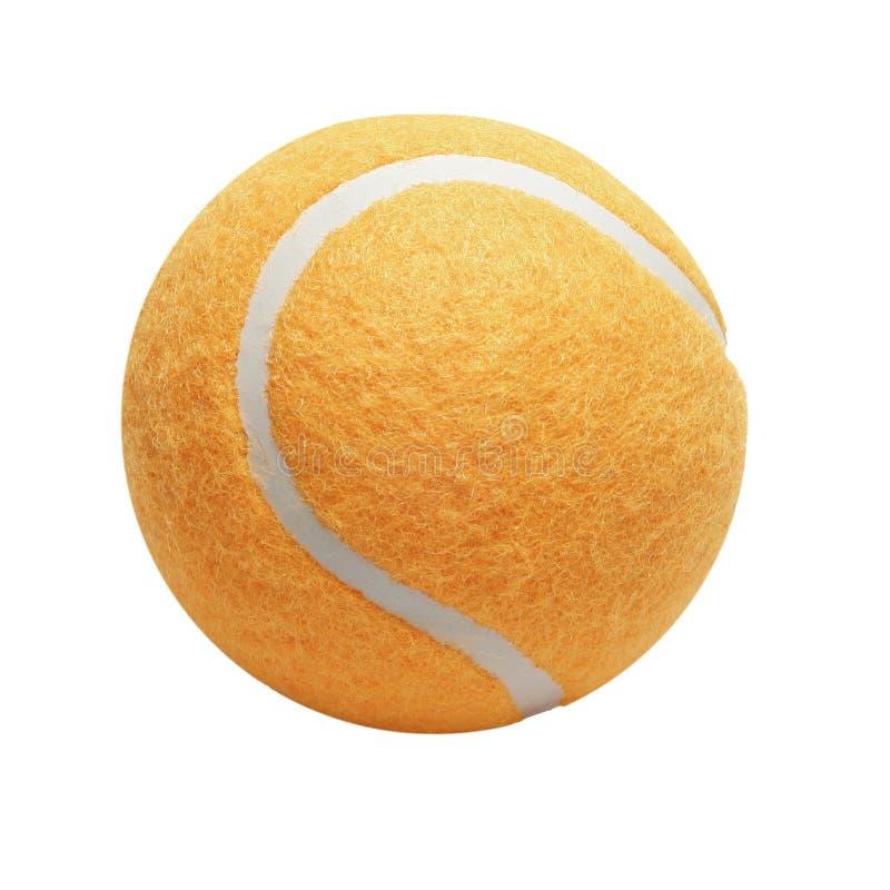 Orange Tennis-Kugel stockbilder