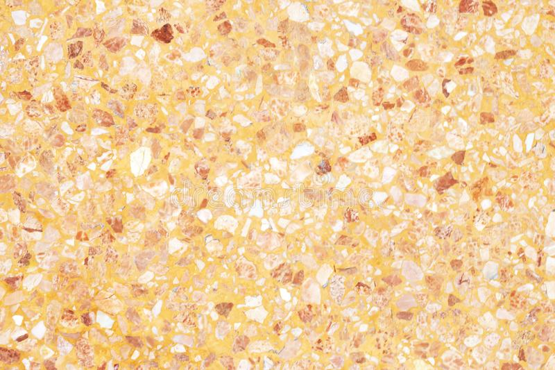 Orange terrazzo floor old texture or polished stone for background royalty free stock images