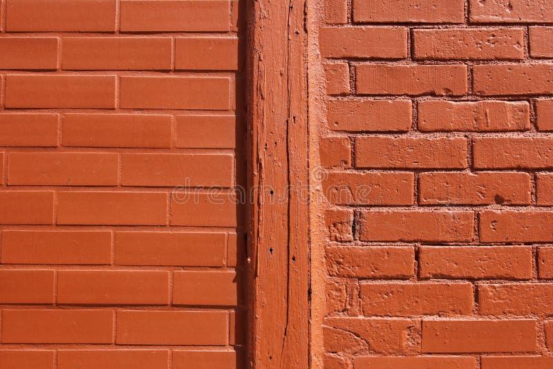 orange texturvägg för tegelsten arkivfoto