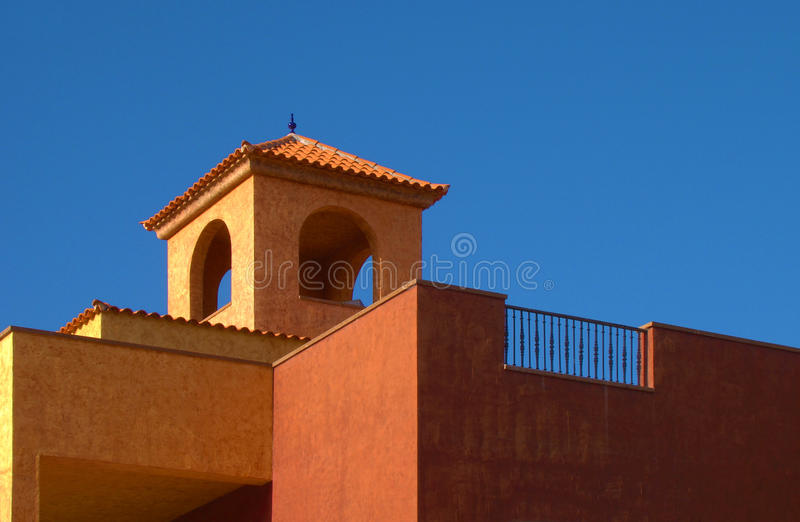 Orange tile roof royalty free stock photos