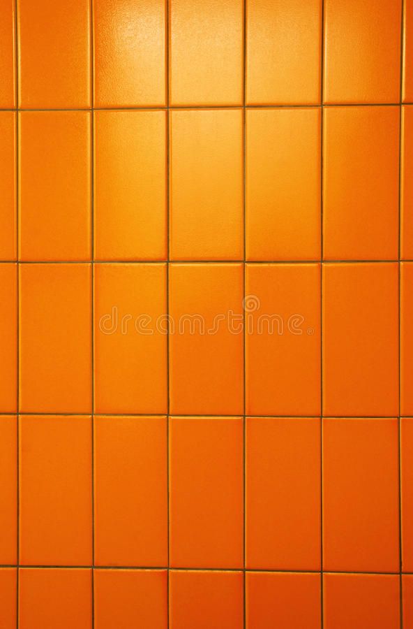 Download Orange tiles wall stock image. Image of young, detail - 16158183