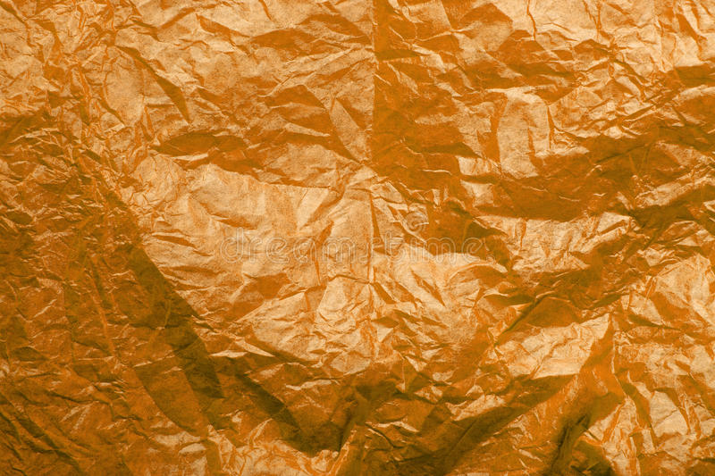 Orange tissue paper texture. For background stock photography