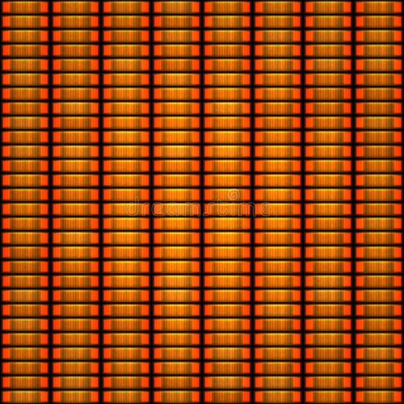 Orange token coin stacks seamless pattern. Seamless pattern of orange token coin stacks stock illustration