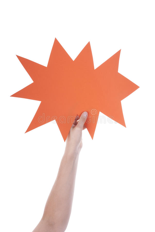 Orange tom anförandeballong royaltyfri foto