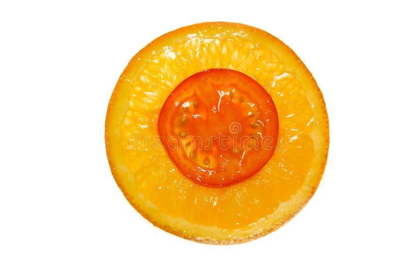 Orange-Tomate Schmelzverfahren stockbild