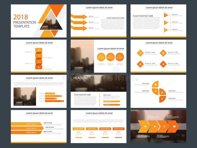 Orange triangle Bundle infographic elements presentation template. business annual report, brochure, leaflet, advertising flyer, stock illustration