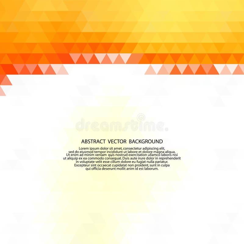 Orange triangles. polygonal style. presentation template. eps 10. Orange triangles. polygonal style presentation template, polyhedrons, science, medicine stock illustration