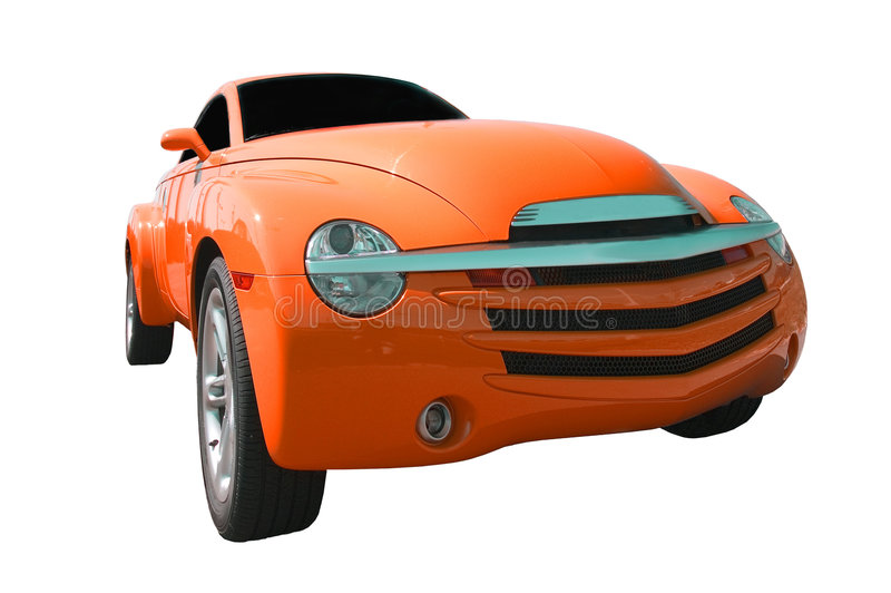 Orange Truck royalty free stock image