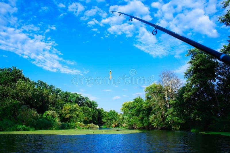 Download Orange Twister für Fischen stockfoto. Bild von gerät - 26351814