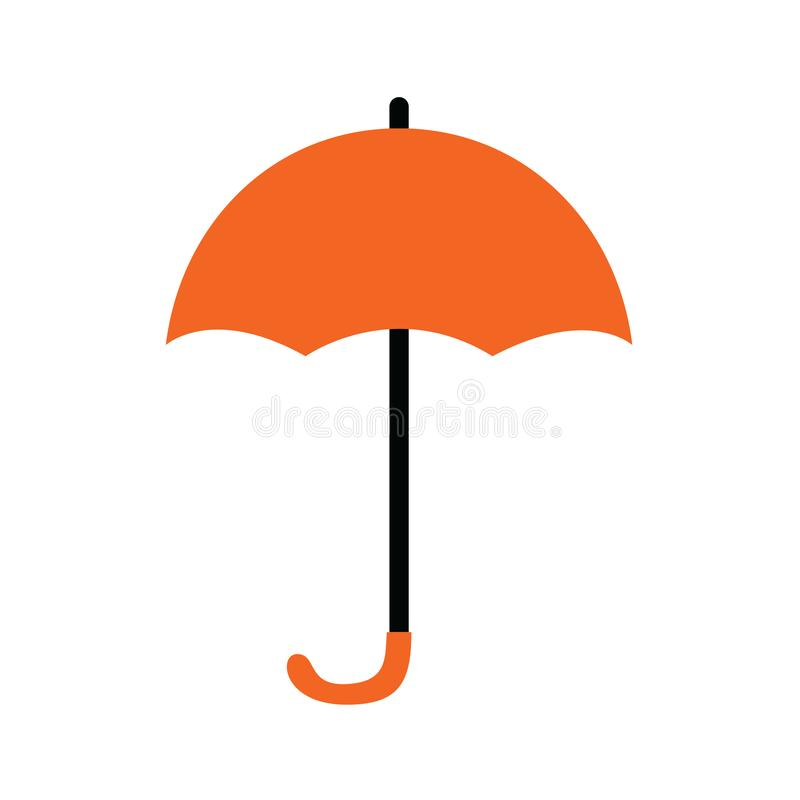 Orange umbrella. Icon isolated on a white background royalty free illustration