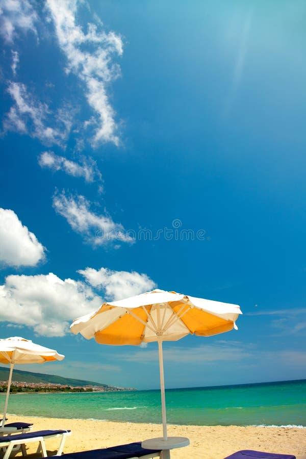 Download Orange Umbrellas And Chairs Stock Photo - Image: 14855364