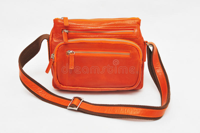 Orange Umhängetasche stockfotografie