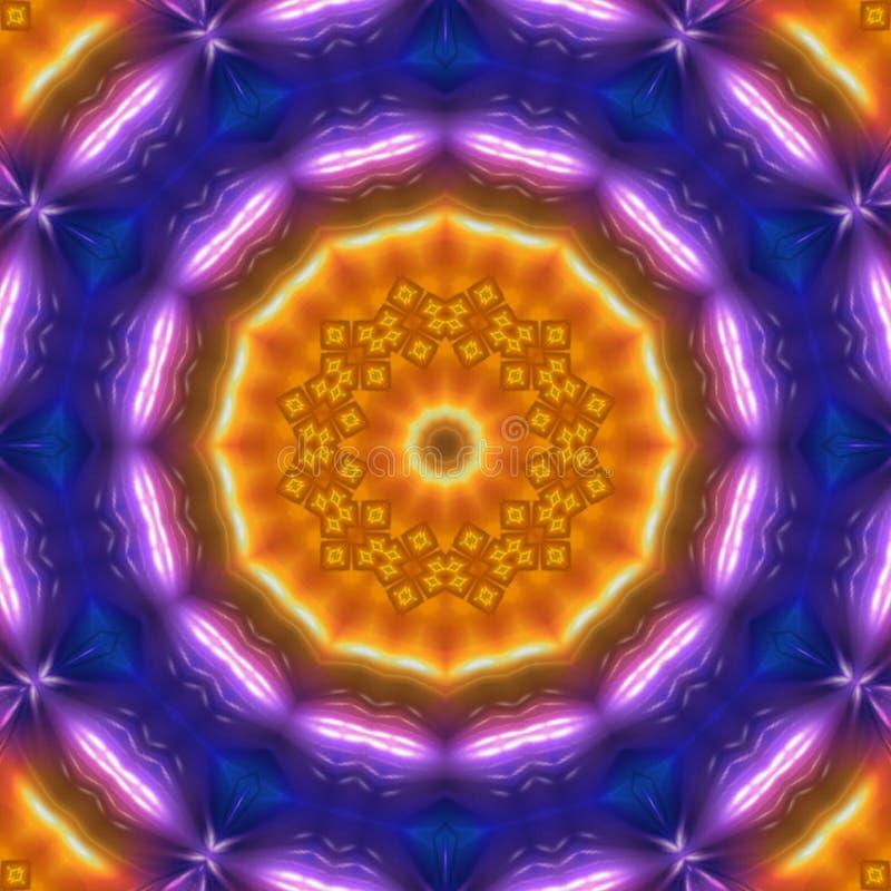 Orange und blaue Farben der digitalen abstrakten Kunst des Hintergrundes stock abbildung