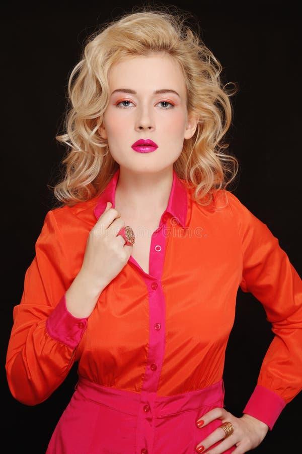 Orange und Fuchsie stockfoto
