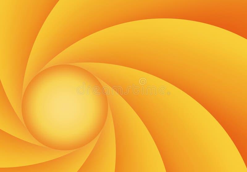 Orange und gelbe abstrakte Membrane vektor abbildung