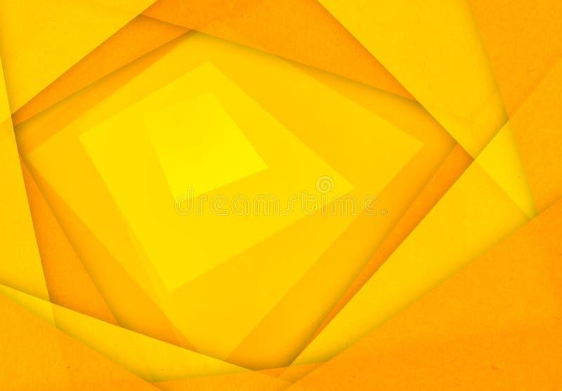 Orange und gelber abstrakter Papierhintergrund vektor abbildung