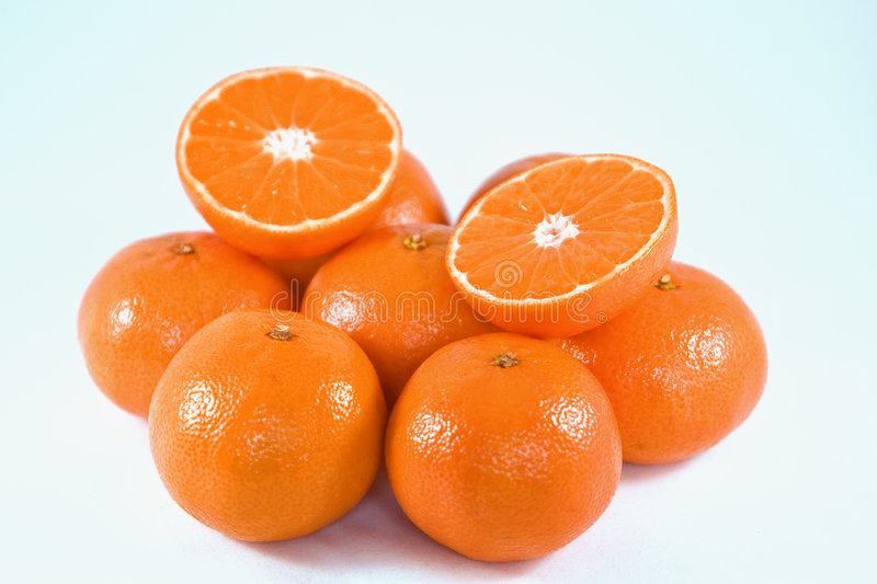 Orange und Mandarine stockfoto