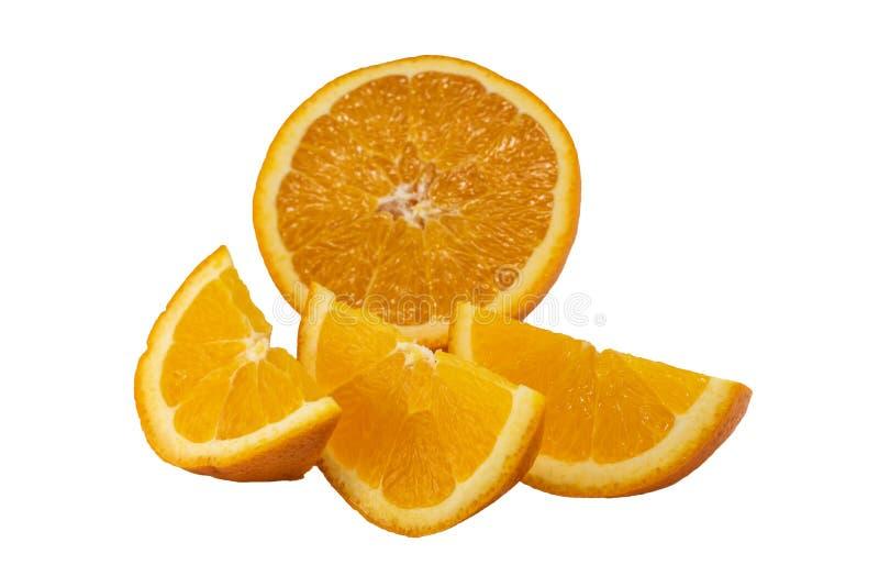 Orange und orange Scheiben lizenzfreies stockbild