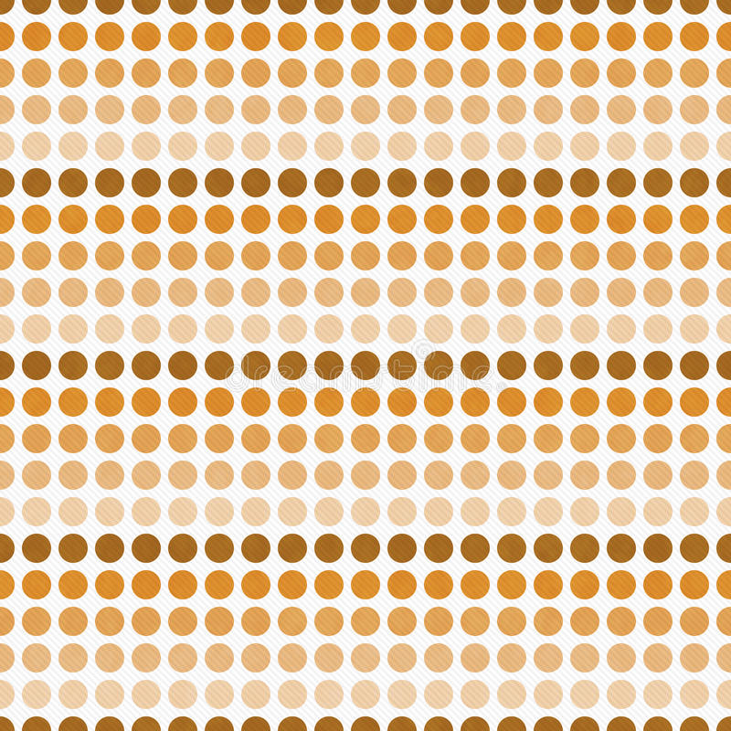 Orange und weiße Polka-Dot Abstract Design Tile Pattern-Wiederholung stock abbildung